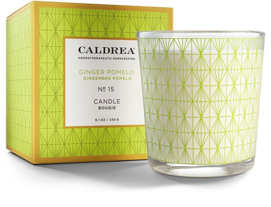 Caldrea No. 15 Ginger Pomelo Glass Candle