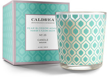 Caldrea No. 23 Pear Blossom Agave Glass Candle