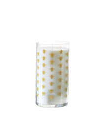 K. Hall Designs Orange Amber Printed Glass Candle