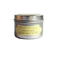 K. Hall Designs Lemon Sage Travel Tin Candle