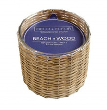 Hillhouse Naturals Beach Wood Hand Woven 2-Wick Candle