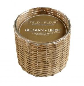 Hillhouse Naturals Belgian Linen Hand Woven 2-Wick Candle