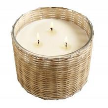 Hillhouse Naturals Belgian Linen Hand Woven 3-Wick Candle