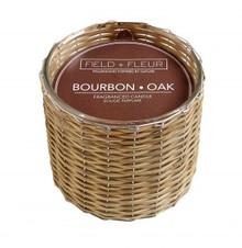 Hillhouse Naturals Bourbon Oak Hand Woven 2-Wick Candle