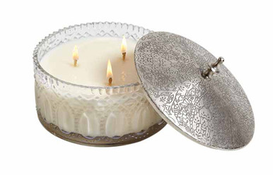 Hillhouse Naturals French Velvet 3-Wick Glass Candle
