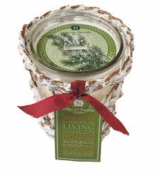 Hillhouse Snow Covered Evergreen Candle