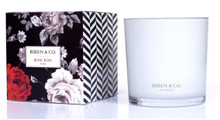 Biren & Co. Rose Bois Boxed Candle Flora Collection