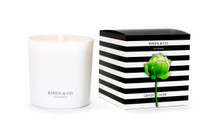 Biren & Co. Grass Musk Boxed Candle Tulip Collection