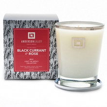 Anderson Lilley Black Currant & Rose Glass Candle