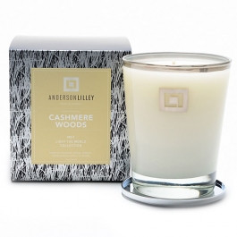 Anderson Lilley Cashmere Woods Glass Candle