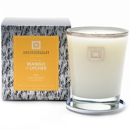 Anderson Lilley Mango & Lychee Glass Candle