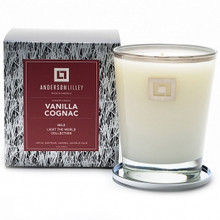 Anderson Lilley Vanilla Cognac Glass Candle