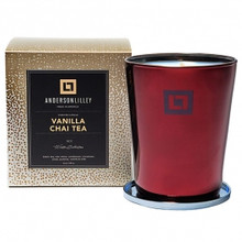 Anderson Lilley Vanilla Chai Tea Glass Candle Winter Collection