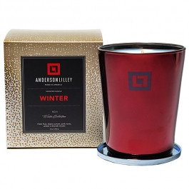 Anderson Lilley Winter Glass Candle Winter Collection