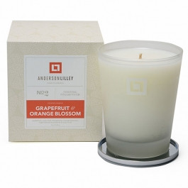 Anderson Lilley Grapefruit & Orange Blossom Glass Candle