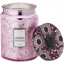 Voluspa Japonica Collection Japanese Plum Bloom Limited Edition Glass Jar Candle