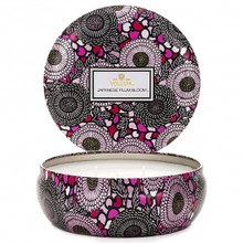 Voluspa Japonica Collection Japanese Plum Bloom Three Wick Tin Candle
