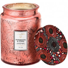 Voluspa Japonica Collection Persimmon & Copal Limited Edition Glass Jar Candle