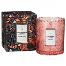 Voluspa Japonica Collection Persimmon & Lychee Limited Edition Scalloped Edge Glass Candle