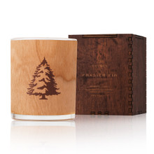Thymes Frasier Fir Collection Wooden Wick Candle