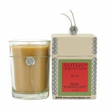 Votivo Aromatic Candle Fresh Tomato Leaf Boxed Candle