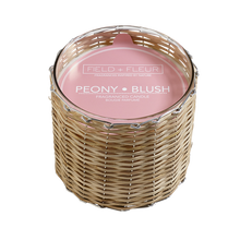 Hillhouse Naturals Peony Blush 3-Wick Woven Candle