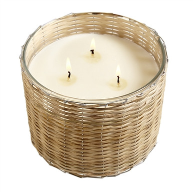 Hillhouse Naturals Grapefruit Persimmon 3-Wick Woven Candle