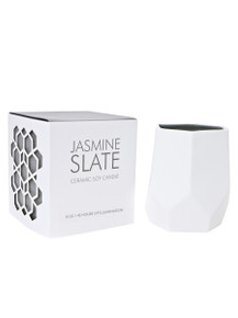 D.L. & Co. Jasmine Slate 8 oz. Abstract Candle