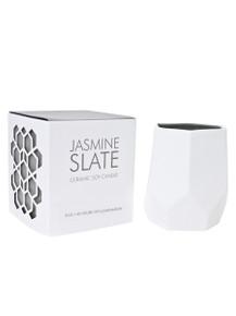 D.L. & Co. Jasmine Slate 8 oz. Abstract Candle