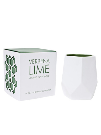 D.L. & Co. Verbena Lime 14 oz. Abstract Candle