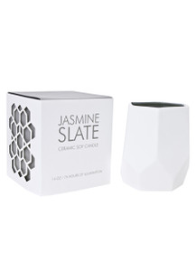 D.L. & Co. Jasmine Slate 14 oz. Abstract Candle