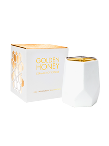 D.L. & Co. Golden Honey 14 oz. Abstract Metallic Candle
