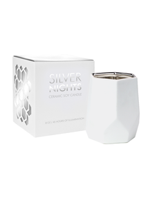 D.L. & Co. Silver Nights 14 oz. Abstract Metallic Candle