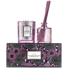 Voluspa Japonica Collection Japanese Plum Bloom Scalloped Edge Candle & Diffuser Gift Set