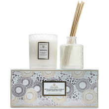 Voluspa Japonica Collection Mokara Scalloped Edge Candle & Diffuser Gift Set