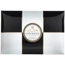 Voluspa Maison Blanc Collection Checkmate 6 Votive Candle Gift Set