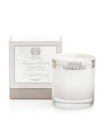 Antica Farmacista Lush Palm Platinum Round Glass Candle