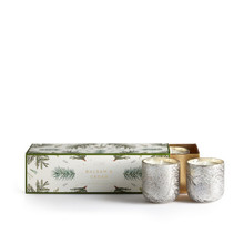 Illume Balsam & Cedar Mini Luxe Sanded Mercury Glass Candle