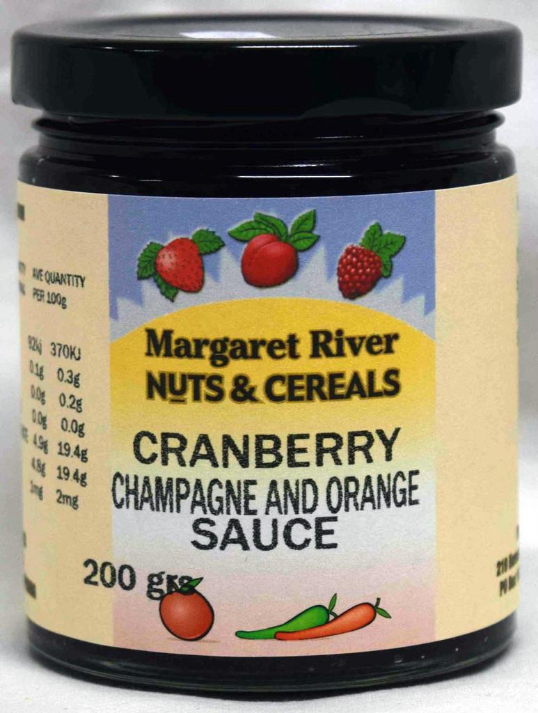 Cranberry Champagne & Orange Sauce
