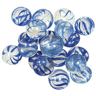 GemStones Swirls Decorative Aquarium Stones Blue & Clear 90/bag