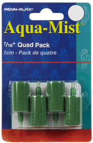Penn Plax 4-Pack Aqua Mist Air Stone Cylinder Aerator for Fish Tank