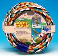 Penn Plax Spiral Rope Perch for Medium / Large Birds