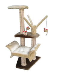 Penn Plax Lounger With Play Tree And Climbing Tower In Brown/Beige