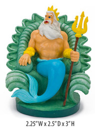 Penn-Plax Disney's Little Mermaid King Triton Aquarium Ornament