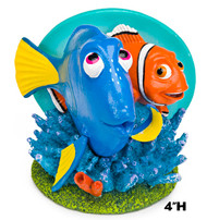 Penn Plax Finding Nemo Resin Ornament for Aquariums Dory and Marlin 4-Inch