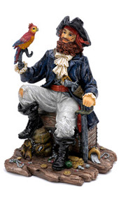 Penn Plax Pirate Captain Aquarium Decoration