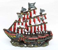 Penn-Plax Sail Shipwreck Ornament Small
