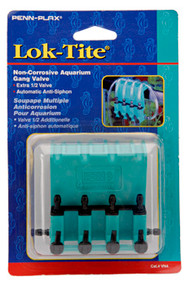 PENN PLAX Lok Tite Plastic 4-Way Air Control Gang Valve Aquarium Pump Accessories