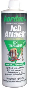 Kordon Ich Attack Ich Treatment for Aquarium 16-Ounce