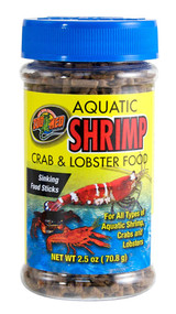 Zoo Med Aquatic Shrimp Crab Lobster Food 2.5-Ounce